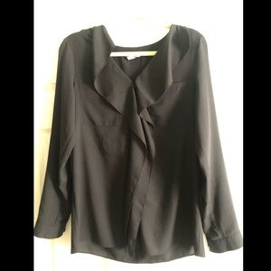 DKNY black blouse